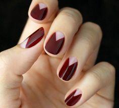 Schlichte Nägel - 50 Fingernägel Bilder für jeden Anlass - http://freshideen.com/trends/schlichte-naegel-schlichtes-nageldesign.html