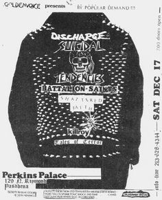 21. Discharge, Suicidal Tendencies, Battalion of Saints, Shattered Faith, Killroy and Tales of Terror flyer #Punk