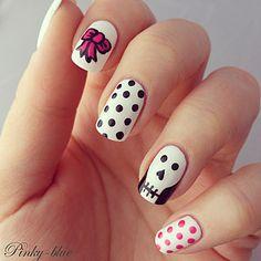 skull #nail #nails #nailart