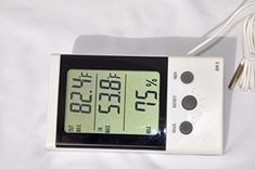 Indooroutdoor Dual Temperature Indoor Hygrometer DT3 Hygrometer for Indoor Comfort Level 2 Area Temperature Digital LCD Display Outdoor Water or Air freezer Temperatures >>> More info could be found at the image url. (This is an affiliate link and I receive a commission for the sales) #WeatherInstruments Weather Instruments, Digital Alarm Clock, Indoor Outdoor, Freezer, Water, Display, Link, Image, Gripe Water