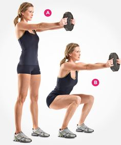 7 Types of Squats You Should Be Doing | Women's Health Magazine - Braced Squat