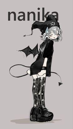 Pretty Art, Cute Art, Emo Art, Anime Poses Reference, Chica Anime Manga, Cartoon Art Styles, Character Design Inspiration, Aesthetic Art, Look Cool