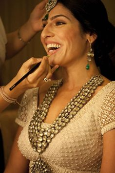 Jewelry OFF! Kundan necklace Indian bridal A Magical Wedding in Umaid Bhavan Palace Pakistani Jewelry, Indian Wedding Jewelry, Indian Bridal, Indian Jewelry, Bridal Jewelry, Big Jewelry, Bridal Accessories, Indian Attire, Indian Wear