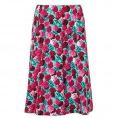 Floral print crepe skirt