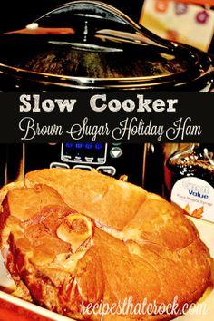 Slow Cooker Brown Sugar Holiday Ham #CrockPot