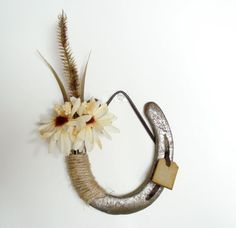 Decorated Horseshoe with flowers Western Decor by DreamersGifts, $20.00