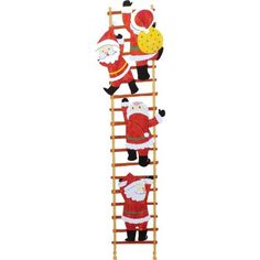 Banner: Santa Claus Climbing a Ladder,Home and Living,Paper Craft,Christmas,party,decoration,Santa Claus