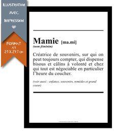 Affiche Imprimée - Grand Mère - Format A4 - 21 X 29,7 cm : Affiches, illustrations, posters par affiche-rgb4you