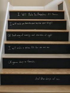 I have seen various types of stairs with simple colors and shapes, but I think that the painted stairs will transform into a more pretty home decor Painted Staircases, Painted Stairs, Iron Staircase, Staircase Design, Staircase Ideas, Spiral Staircase, Stair Risers, Stair Railing, Railing Ideas