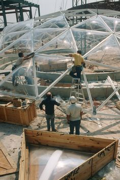 """Updated on December Added a last few paragraphs with two new pictures and commentary on Spaceship Earth's construction methods. epcotexplorer: """" EPCOT Origins Thanks to a loyal reader of. Disneylândia Vintage, Vintage Disney, Disney Parks, Walt Disney World, Epcot Center, Spaceship Earth, Disney Planning, Rare Pictures, How To Level Ground"""