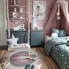 God morgen 🌸 Titter innom før jobb for å ønske dere en fin dag 😘 _ _ //. Bedroom Orange, Bedroom Colors, Home Decor Bedroom, Diy Home Decor, Bedroom Ideas, Teenage Girl Bedrooms, Girls Bedroom, Solids For Baby, Bedroom Layouts