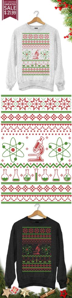 Ugly Science Christmas Sweater - Get this limited edition ugly Christmas Sweater just in time for the holidays! Buy 2 or more, save on shipping!