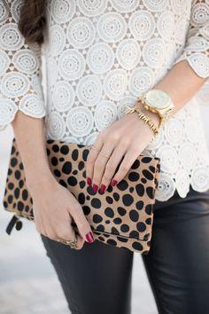 lace + leopard