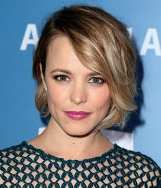 Rachel McAdams medium length bob is cut and styled beautifully.