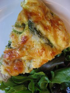 Potato, asparagus & cheddar fritatta - Good!  Made this one for dinner & the whole family enjoyed.