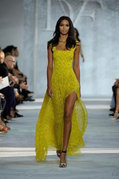 The DVF Spring 2015 Collection - Yellow