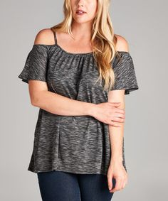 Another great find on #zulily! Charcoal Camisole Off-Shoulder Top - Plus #zulilyfinds