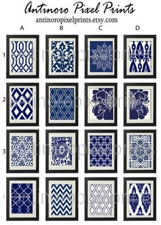 Items similar to Navy White Vintage / Modern inspired Art Prints -Pick Any Prints, Any Color - Prints - Custom Colors Sizes Available (UNFRAMED) on Etsy Damask Wall, White Damask, Modern Art Prints, Wall Art Prints, White Decor, Blue Art Decor, White Art, Navy And White, Gallery Wall