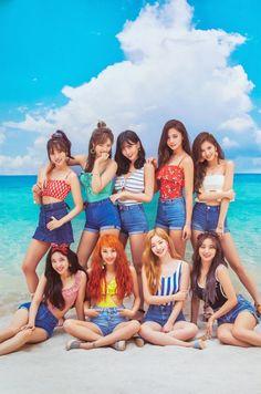 Left to right row - Jihyo, Momo and Chaeyoung. row - Tzuyu, Sana and Nayeon. Last row - Dahyun, Mina and Jeongyeon. Nayeon, K Pop, Kpop Girl Groups, Korean Girl Groups, Kpop Girls, Girls Generation, Twice Chaeyoung, Twice Group, Twice Album