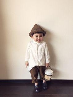 麦わらとんがり帽子と コーヒーカップ風バッグができた(❁´◡`❁)