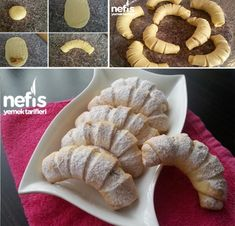 Elmalı Şerit Kurabiye Tarifi Croissant Dough, Sweet Cookies, Mediterranean Recipes, Biscotti, Macarons, Tart, Waffles, Cereal, French Toast