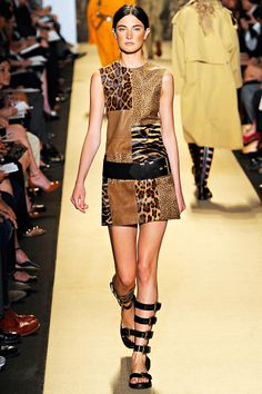 (Michael Kors) I love the survivalesque vibe his Spring collection has overall. This dress is pretty cute.