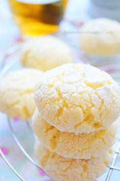 """Biscuits au citron """"Lemon Crinkles"""" Biscuits au citron """"Lemon Crinkles"""" que je propose aujourd'hui, parfaits pour une pause gourmande ! Un tea time à l'an"""