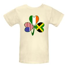 Fun design for those who want to celebrate their #Jamaican, Irish and USA cultures, heritages and ancestries all at once. Image features a #shamrock with one flag in each leaf: Jamaica,Ireland or United States of America. Wonderful for St. Patrick's Day, Independence Day and Jamaican holidays, too. $22.99 http://ink.flagnation.com from your @Auntie Shoe