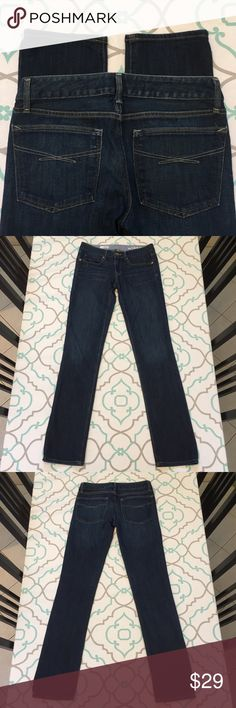 "💘💙👖Gorgeous Skinny Jeans by Gap 26L Dark Wash💘 💘💙👖Gorgeous! Gap Denim. Skinny Jeans! Size 26L 26 Long. (Size 1/2.) 32.25"" inseam. Great for tall ladies! ; ) 7.25"" rise. 13.75"" flat across the back. Good Stretch! Real Straight! Excellent Used Condition! Dark Wash! Very light fading! Beautiful! Ask me any questions!👖💙💘 GAP Jeans Straight Leg"