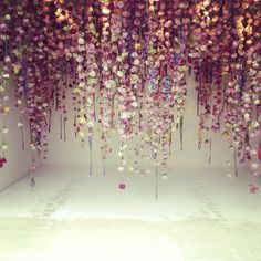 Cascading flowers by Rebecca Louise Law #RHSChelsea, via @Laura Ashley.
