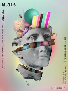 Graphic Design - A Poster Every Day - Magdiel Lopez Graphic Design Posters, Graphic Design Illustration, Graphic Design Inspiration, Graphic Art, Collage Design, Collage Art, Poster Collage, Magdiel Lopez, Vaporwave Art