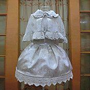 Long Sleeve Short Silver Floral Print Brocade... – USD $ 149.99