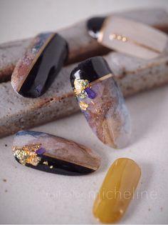 I put my nail polish like a pro! - My Nails Marble Nail Designs, Marble Nail Art, Gel Nail Designs, Gem Nails, Minx Nails, Hair And Nails, Cute Nails, Pretty Nails, Korea Nail Art