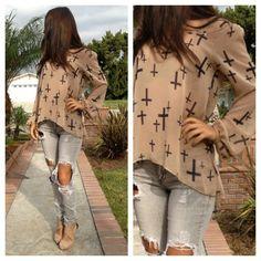 cross long sleeve top