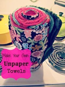 Make Your Own Unpaper Towels. I need the pink terry cloth!!!