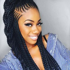 Braids By : Unknown Now trending half up half down ghana braids , the longer the better it is when it comes to this particular style. Not sure of which extension to use? i think EXPRESSION extensio…