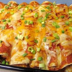 Chicken Enchiladas | Made these last night! They are absolutely delicious and so easy to make!!