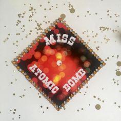 Custom Graduation Cap  Miss Atomic Bomb