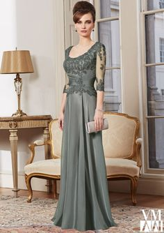 bolero evening dress and mother of the bride dress from VM by Mori Lee Dress Style 71017 Lace/Mesh/Chiffon
