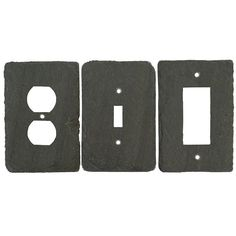 Slate stone light switch and outlet covers made from reclaimed slate by Vermont artisan craftsmen. Slate trim covers and wall plates for the Nest Thermostat ...  sc 1 st  Pinterest & Decorative light switches GFIsu0027 and Outlet covers. (scheduled via ...
