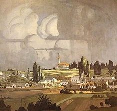 JH Pierneef - Louis Trichardt 1925 - where I were born and raised Louis Trichardt, South Africa Art, African Art Paintings, South African Artists, Artist Art, Landscape Art, Illustrations Posters, Modern Art, Illustration Art