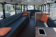 The top of a converted double decker!