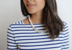 A Pair & A Spare | DIY Statement Rope Necklace