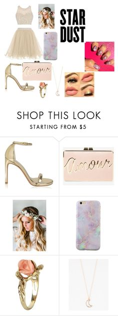 """""""Star Prom"""" by lauren-paul-sets ❤ liked on Polyvore featuring Stuart Weitzman, BCBGMAXAZRIA, Emily Rose Flower Crowns, Vintage and Full Tilt"""