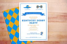 Kentucky Derby Party Invitations by Chris Millspaugh, via Behance