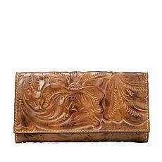 Patricia Nash Leather Signature Gold Terresa Wallet Leather Bifold Wallet ab966fef92d3a