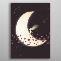 Lunar Child by Annisa Tiara Utami Lunar Children, Canvas, Room Posters, Nature, Metal, Living Room, Tela, Naturaleza, Metals
