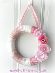 Bubblegum Pink Yarn Wreath!