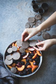 Blackberry Peach Buckwheat Pandowdy + Toasted Buckwheat Ice Cream {gluten-free}