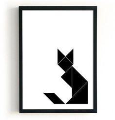 Geometric Tattoo – Geometric Cat Print Black cat poster Geometric fox by BlacknBoo… – Tattoo Pattern Geometric Patterns, Geometric Fox, Geometric Poster, Geometric Designs, Geometric Shapes, Geometric Tattoos, Dog Tattoos, Cat Tattoo, Poster Love